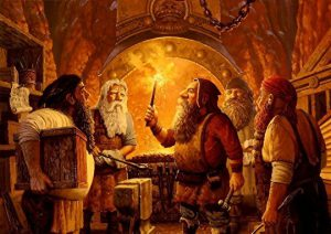 dwarves casting Odin's ring