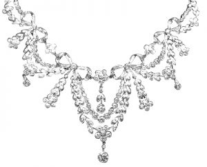 Edwardian diamond garland necklace