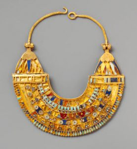 Egyptian gold collar necklace