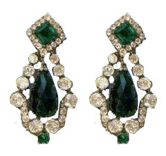 marie-louise emerald diamond earrings