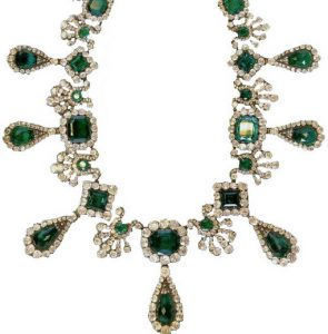 marie-louise diamond emerald necklace