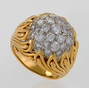 mid-century flame ring