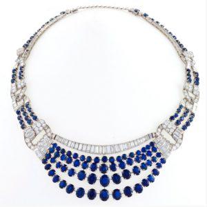 mid-century sapphire necklace