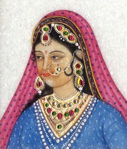 mughal bride with jewelry