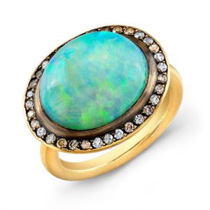 opal cabochon ring