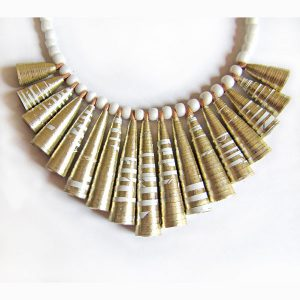 rolled paper necklace