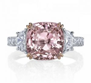 pink diamond ring accent stone
