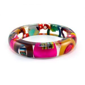 modern resin bracelet