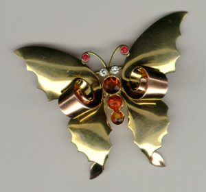 retro tiffany butterfly brooch