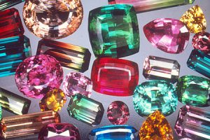 mixed colors tourmaline gemstones