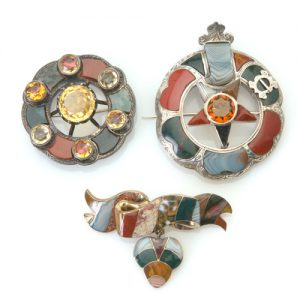 Victorian agate brooches