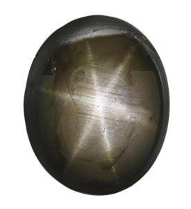 black cabochon star sapphire