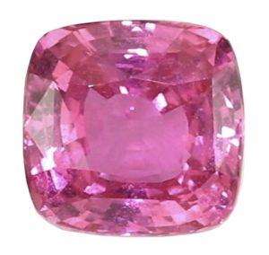cushion cut pink sapphire gemstone