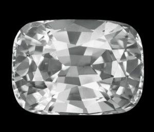 Ceylon white sapphire cushion cut