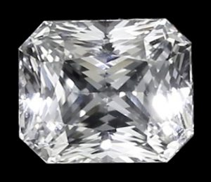 Ceylon white sapphire radiant cut