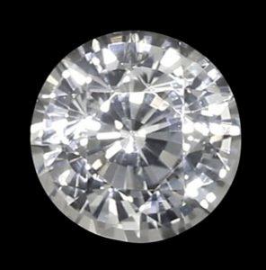 classic round natural white sapphire