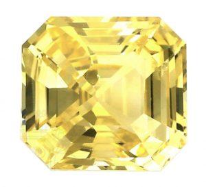 Ceylon asscher cut yellow sapphire
