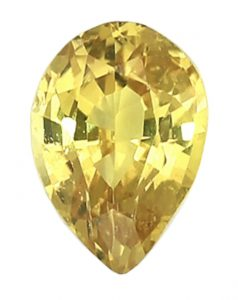 yellow pear shape sapphire