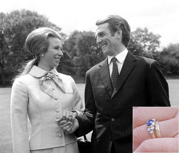 princess anne blue sapphire engagement ring