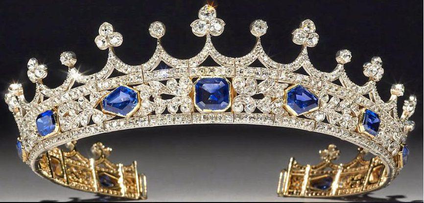 queen victoria sapphire coronet