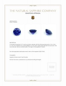 Sapphire Appraisal Report Example