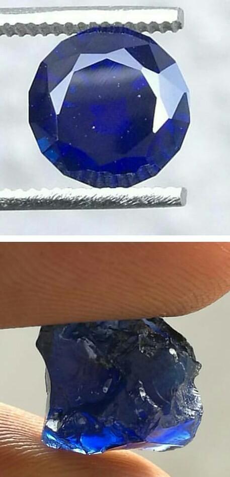 sapphire mining rough gemstone