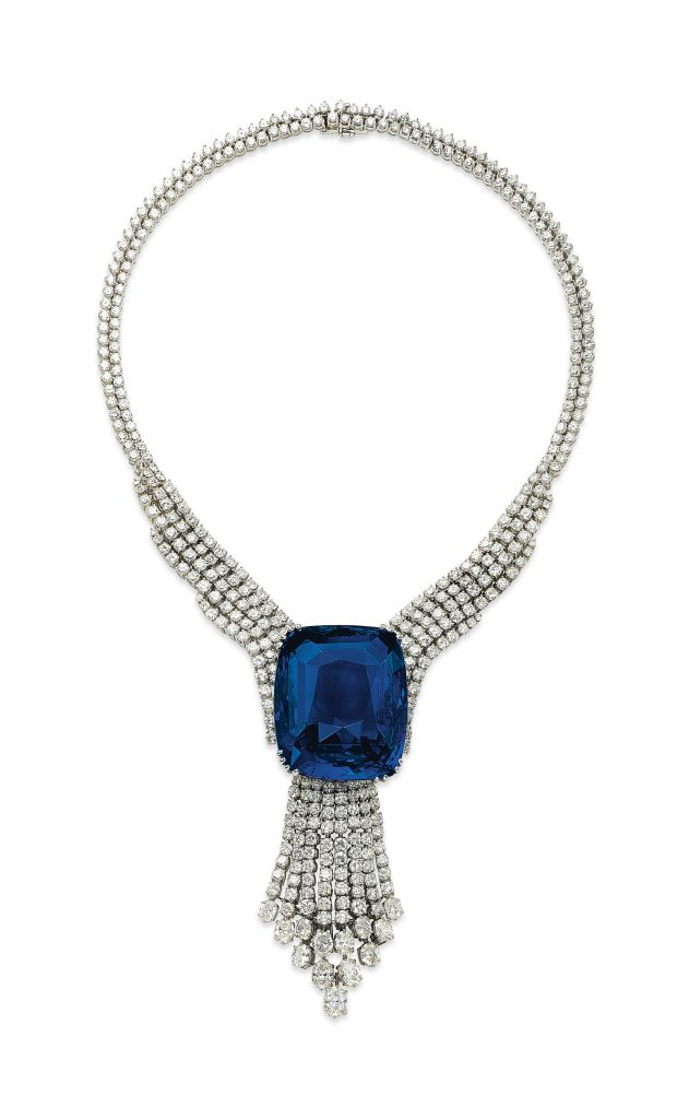 blue belle of asia sapphire necklace
