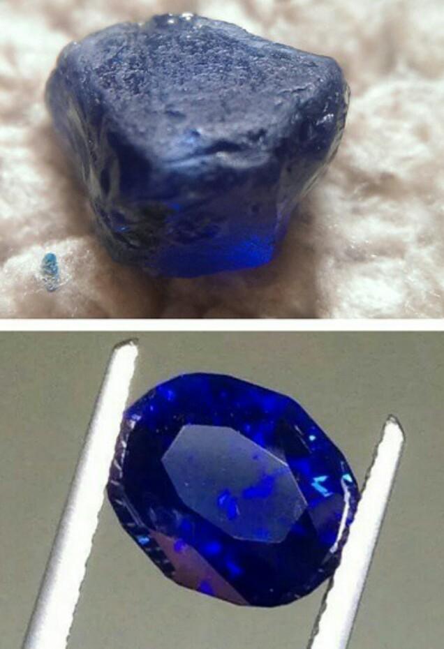 oval cut Nigerian blue sapphire