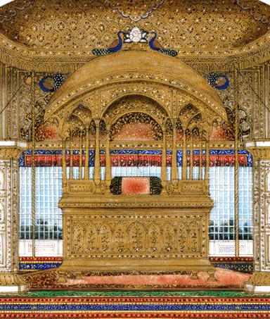 peacock throne sapphires