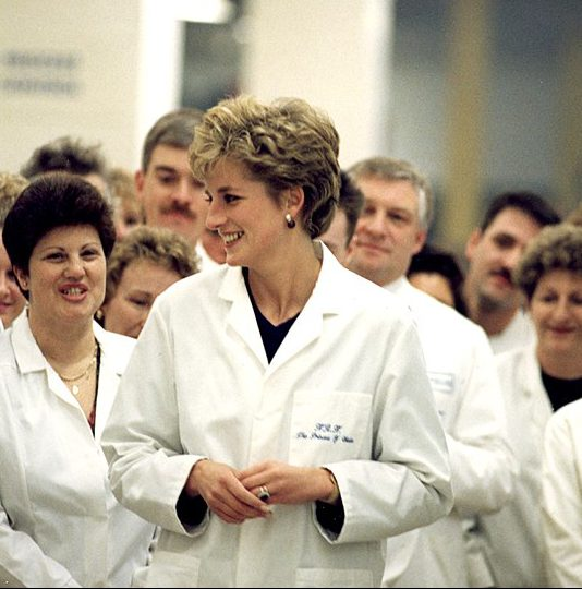 princess diana visiting factory