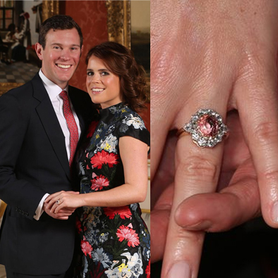princess eugenie padparadscha sapphire engagement ring