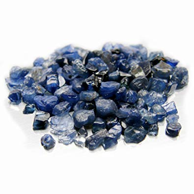 rough blue sapphire crystal