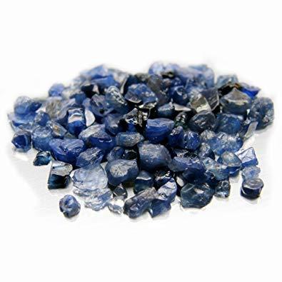 rough blue sapphire crystal
