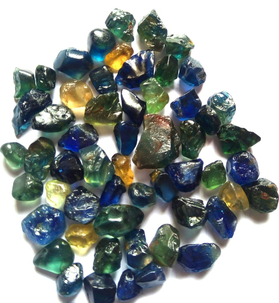 various sapphire crystal rough colors