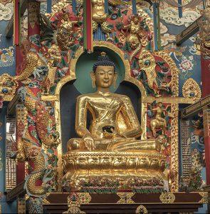 buddhist statue precious gemstones