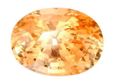 brilliant oval peach sapphire