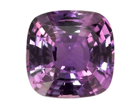 Ceylon cushion cut purple sapphire