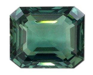 emerald cut green sapphire