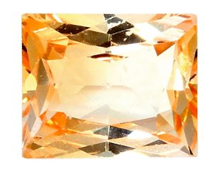 princess cut orange sapphire