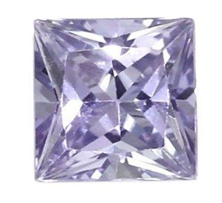 princess cut purple sapphire
