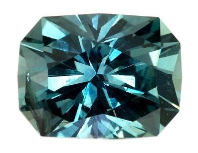 radiant cut greenish-blue sapphire