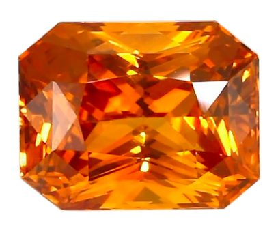 radiant cut orange sapphire