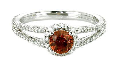 brown sapphire diamond ring