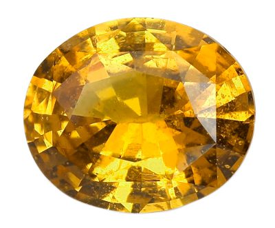 vivid oval cut cognac sapphire