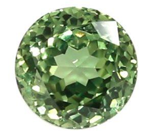 brilliant round green sapphire