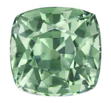 cushion cut green sapphire