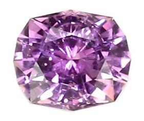cushion cut purplish-pink sapphire