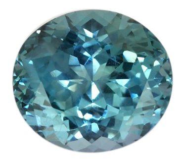 oval bluish-green sapphire