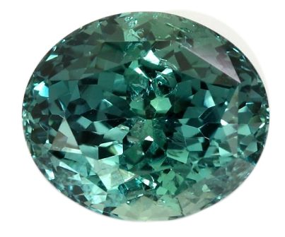 oval cut greenish-blue sapphire