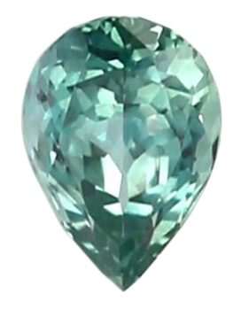 pear shape bluish-green sapphire